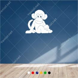 Maymun Şempanze Yavrusu 60x50 cm Duvar Sticker