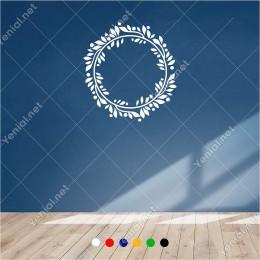 Silindir Şeklinde Oluşturulmuş Taç Süsleme 60x60 cm Duvar Sticker