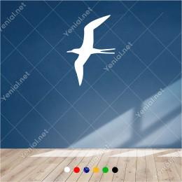Sola Doğru Uçup Giden Albatros 60x40 cm Duvar Sticker