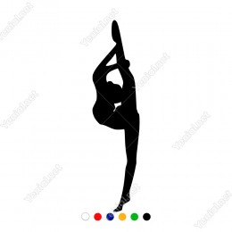 Tek Ayağı Üzerinde Duran Balerin Kadın Sticker