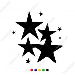 Toplu Halde Duran Dokuz Adet Yıldız Sticker