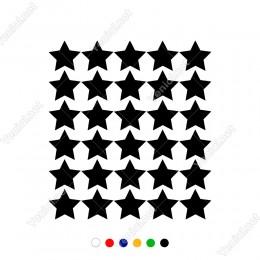 Toplu Halde Oluşturulmuş 30 adet Yıldız Sticker