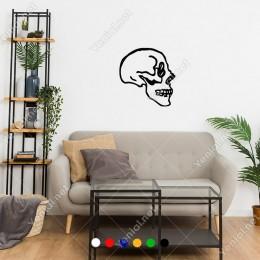 Yandan Görünümlü Kuru Kafa Duvar Sticker