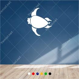 Yavaş Şekilde Yüzen Deniz Kaplumbağası 60x50 cm Duvar Sticker