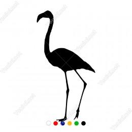 Yavaş Yavaş Yürüyen Flamingo Kuşu Sticker