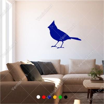 Yavrusunu Bekleyen Gagalı Kuş 60x50 cm Duvar Sticker