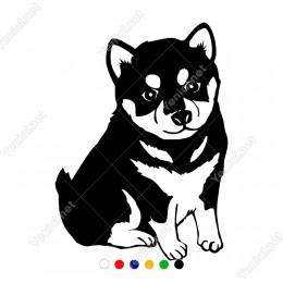 Yedi Aylık Sevimli Köpek Yavrusu Sticker