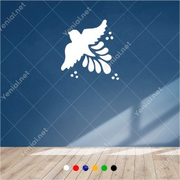 Zümrüdü Anka Kuşu Uçup Dağılıyor 60x60 cm Duvar Sticker