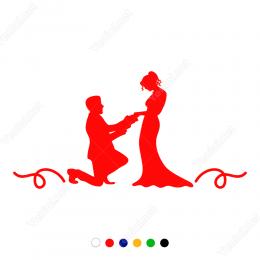 14 şubat Sevgililer Günü İndirimi Sticker Yapıştırma