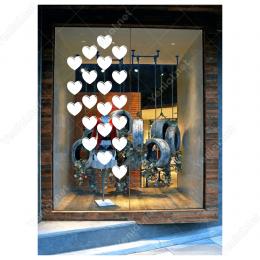 14 Şubat Sevgililer Günü Kalp 20 Adet (10cm) Sticker Yapıştırma