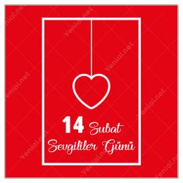 14 Şubat Sevgililer Gününe Özel Çerçeve İçinde Kalp Yapıştırma
