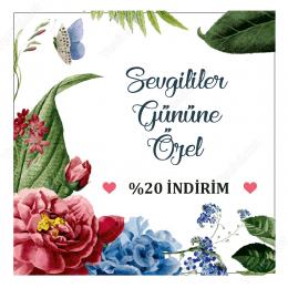 14 Şubat Sevgililer Gününe Özel Çiçek Desenli Sticker