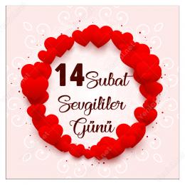 14 Şubat Sevgililer Gününe Özel Üç BoyutLu Kalpler Yapıştırma