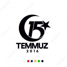 15 Temmuz 2016 Unutma Logo Sticker Çıkartma