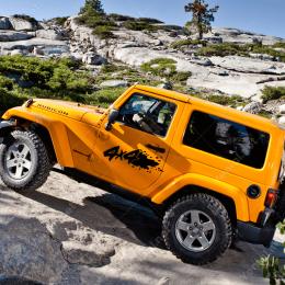2 Adet 4x4 Off Road Jeep Araba Sticker Yapıştırma