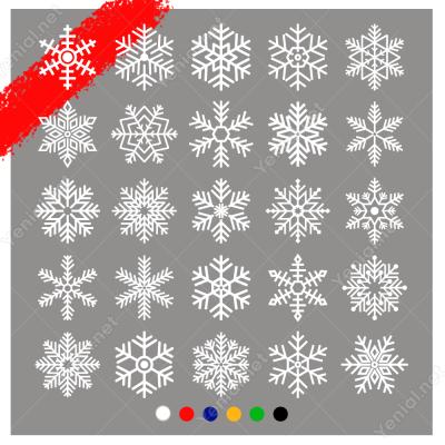 25 Adet Farklı Kar Tanesi Sticker Çıkartması