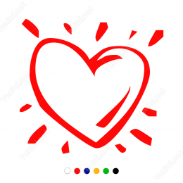 14 Şubat Sevgililer Günü Hareket Efektli Kalp Sticker Yapıştırma