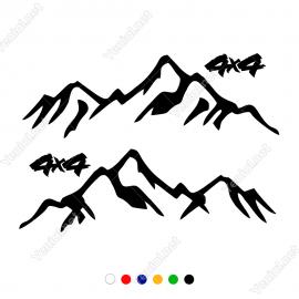 4x4 Dağ Off Road Araba Sticker Yapıştırma 2'li Sağ ve Sol Set