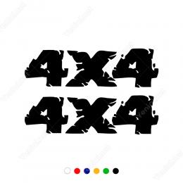 4x4 Efektli Yazı Off Road Arabalar İçin Sticker