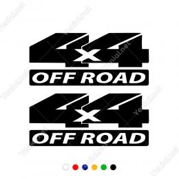4x4 Off Road Yazısı Bold 2 Adet Sticker Yapıştırma