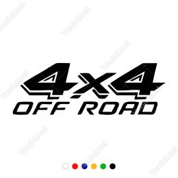 4x4 Off Road Yazısı Sticker Yapıştırma