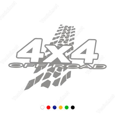 4x4 Ofroad Yazısı Lastik İzli Sticker Yapıştırma