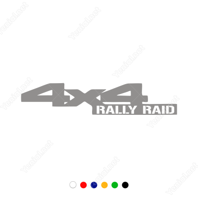 4x4 Rally Raıd Yazısı Sticker Yapıştırma