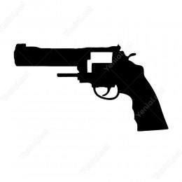 Eski Usul Tabanca Silah Siticker Çıkartma