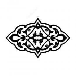 Türk Ve Osmanlı Motifi Deseni Sticker Yapıştırma