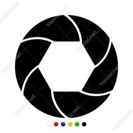 Altı Parçadan Oluşmuş Bölünmemiş Simit Sticker