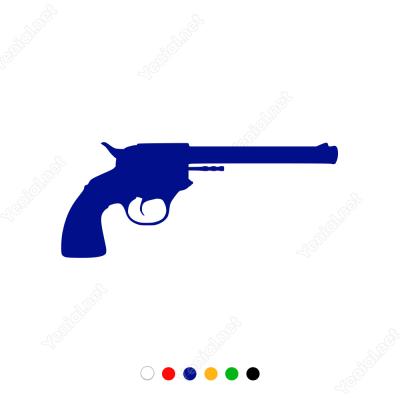 Altı Pat Silah Sticker Yapıştırma