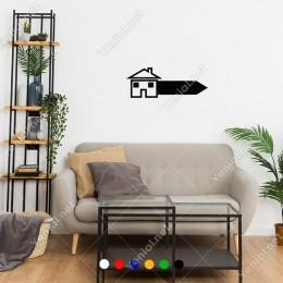Anahtar Şeklinde Oluşmuş Ev Home Sticker