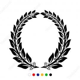 Antik Taç Süsleme Yaprak Deseni Motifi Stickerı