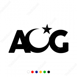 AOG Yan Bayraklı Sticker
