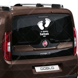 Arabada Bebek Var Sticker Yapıştırma Çıkartma
