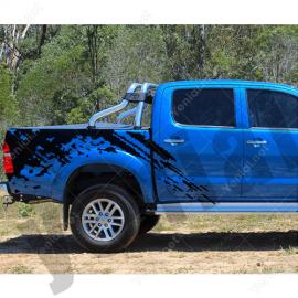 Arazi Ve Dağ Canavarı Arabası Çamur Efekti Sticker Yapıştırma