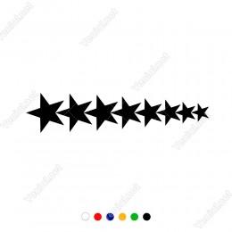 Ardı Ardına Sıralanmış Yıldız Grubu Sticker