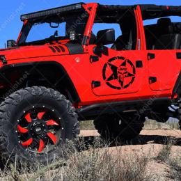 Askeri Yıldız ,Army Star Off Road 4X4 Jeep Arazi Aracı Çıkartma