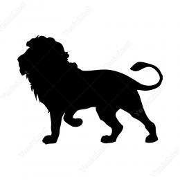 Görkemli Aslan  Sticker Etiket