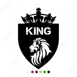 Aslan King Kral Tacı Sticker Yapıştırma