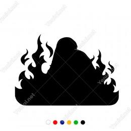 Ateş Başlama Başlangıç Yangın Simgesi Sticker