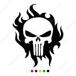 Ateş Efekti İçinde Monster Sticker Yapıştırma