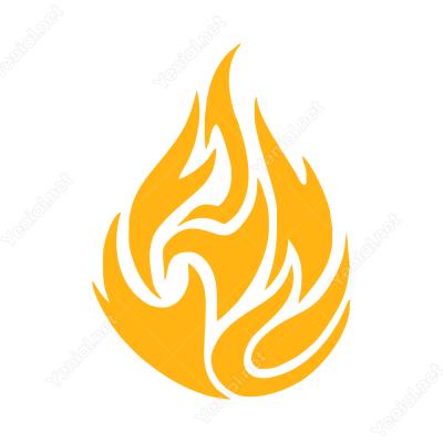 Ateş Efekti Stickerı Yapıştırma