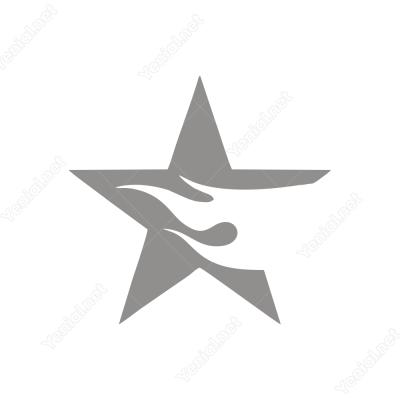 Ateş Efektli Yıldız Sticker Yapıştırma