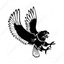 Avcı Savaşçı Kartal Kuş Siticker