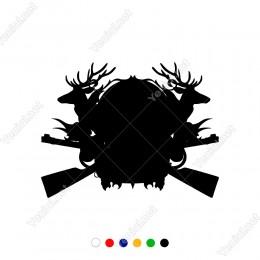Avcılar İçin Oluşturulmuş Set Aksesuar Sticker