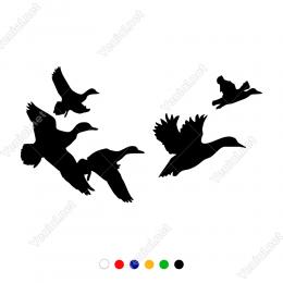 Avcılar İçin Uçuşan Ördekler Stickeri Yapıştırması