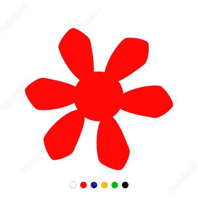 Ay Çiçeği Sticker Yapıştırma