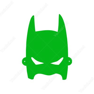 Batman Başı Kaskı Maskesi Sticker Yapıştırma