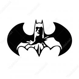 Batman Kanatlı Sticker Yapıştırma
